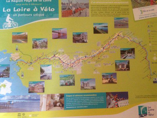 Fietsroute fietsreis fietsblog fietsverslag review fietsvakantie Loireroute routekaart
