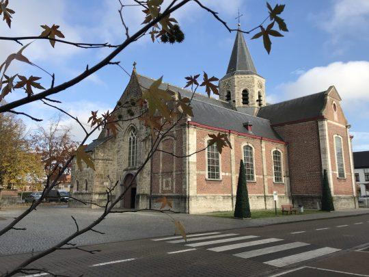 Fietsroute review fietsblog Scheldeland fietslus Vermoedeleyck Scheldeland Kalken Sint-Donaaskerk