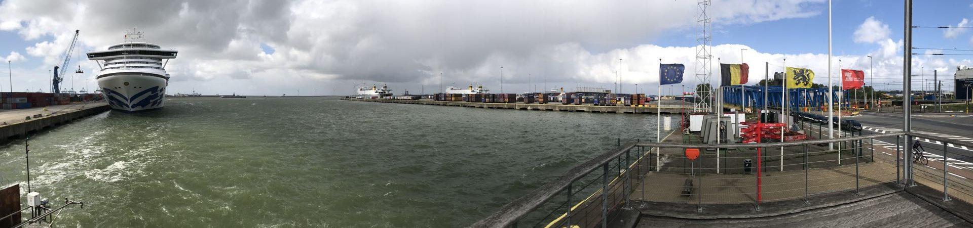 fietsroute fietsblog Zeebrugge haven review dok