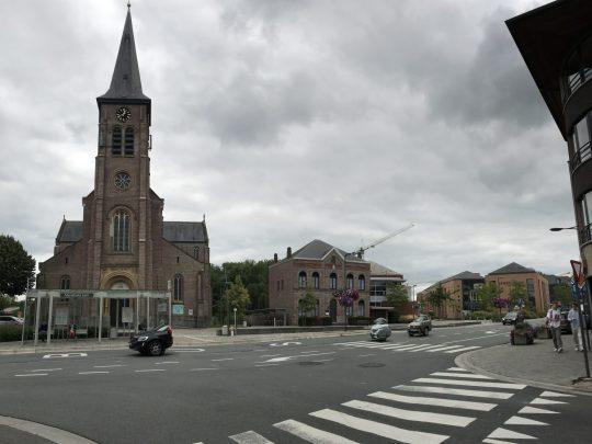 Fietsroute fietsblog Merelbeke kerk