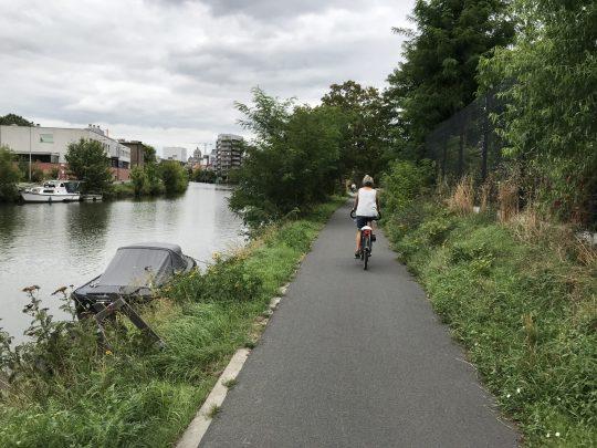 Fietsroute fietsblog fietsen Gent stadsrand