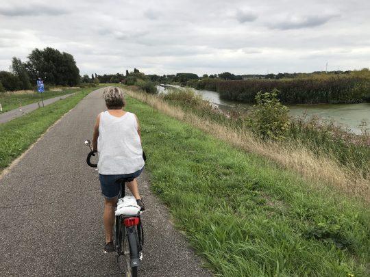 Fietsroute fietsblog fietsen Gent stadsrand Scheldeboord jaagpad