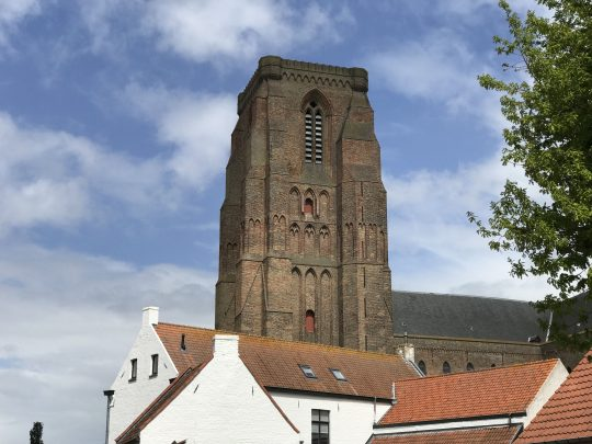 fietsroute fietsblog Lissewege kerktoren