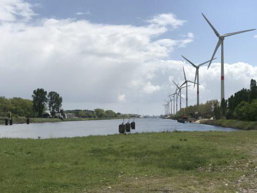 Fietsroute fietsblog Zeebrugge haven windmolens review