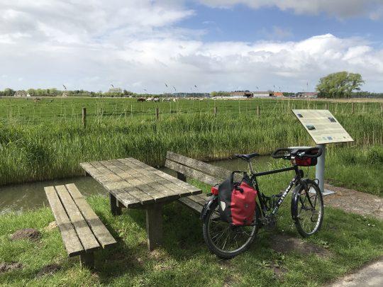 fietsroute fietsblog polders kanalennetwerk Ronselaerebeek Rondsaertader