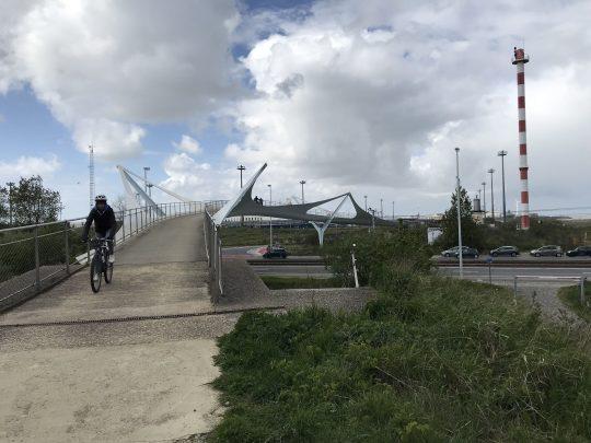 fietsroute fietsblog fietsbrug Zeebrugge haven