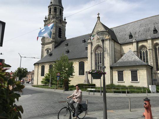 Fietsroute fietsblog Scheldedijkroute Puurs kerk