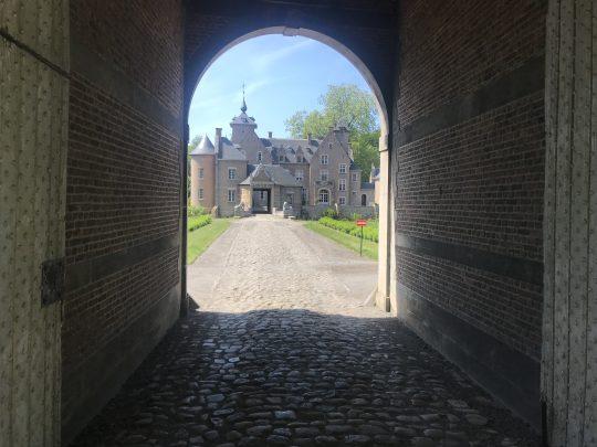 Fietsroute fietsblog Scheldedijkroute kasteel Hof te Melis inrijpoort