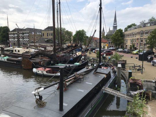 Fietsroute fietsblog review Gouda Krimpenerwaard Gouda centrum haven varend erfgoed