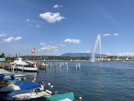 Fietsreis reisverslag viarhona dagboek Genève meer