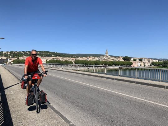 Fietsreis reisverslag viarhona dagboek rhonebrug Bourg-Saint-Andéol