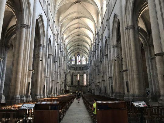 Fietsreis reisverslag viarhona dagboek Vienne kathedraal interieur