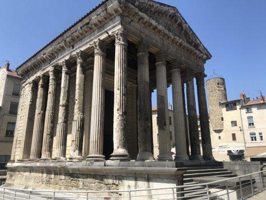 Fietsreis reisverslag viarhona dagboek Vienne tempel romeins