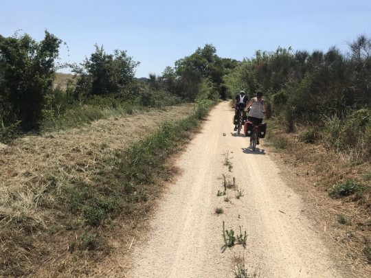Fietsreis reisverslag viarhona dagboek route provisoire