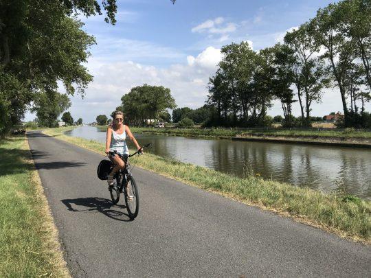 Fietsroute fietsblog review kust Nieuwpoort vaart Plassendale-Nieuwpoort kanaal