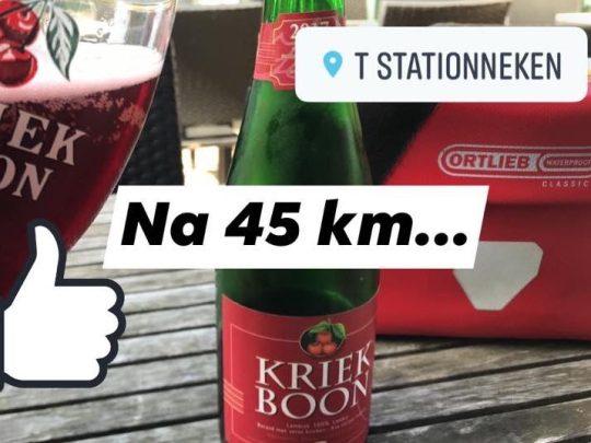Fietsroute fietsblog review Baerdegem Stationnetje bistro