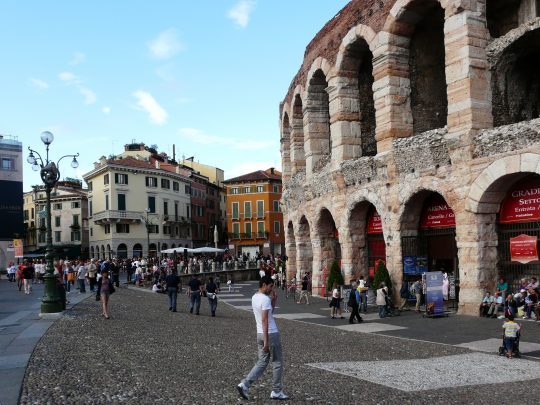 Fietsreis fietsroute review reisverslag fietsbedevaart Romereis Verona