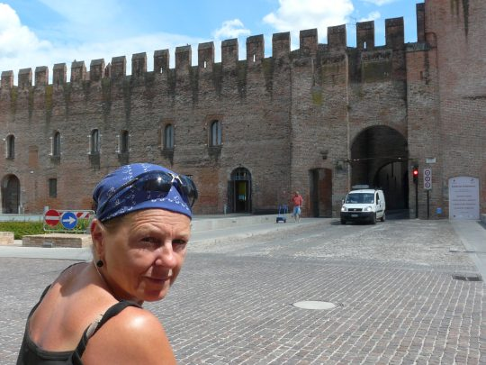 Fietsreis fietsroute review reisverslag fietsbedevaart Romereis Montagnana
