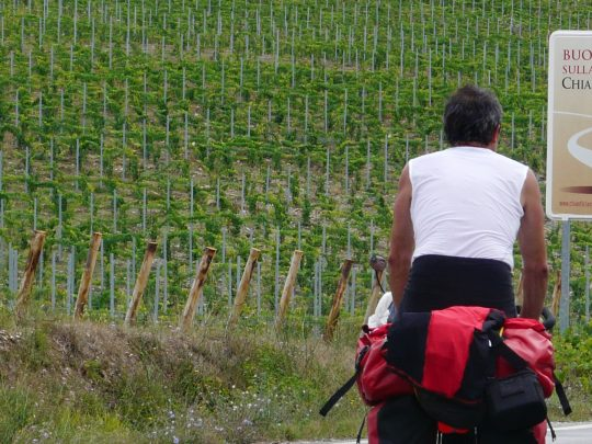 Fietsreis fietsroute review reisverslag fietsbedevaart Romereis Chianti