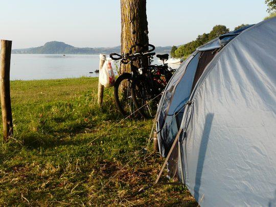Fietsreis fietsroute review reisverslag fietsbedevaart Romereis Lago di Bolsena