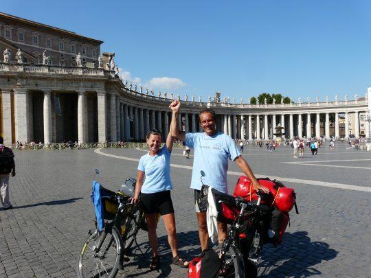 Fietsreis fietsroute review reisverslag fietsbedevaart Romereis Vaticaan