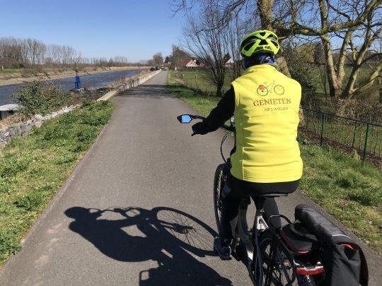 Fietsroute fietsblog review fietslus fietsverslagen scheldeland jaagpad Schelde Wetteren