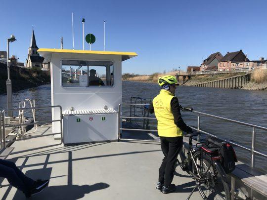 Fietsroute fietsblog review fietslus fietsverslagen scheldeland Schellebelle veerdienst