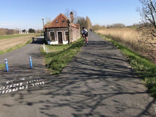 Fietsroute fietsblog review fietslus fietsverslagen Schelde schippershuis