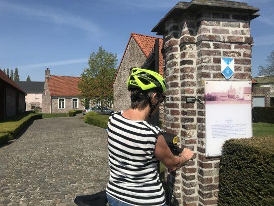 Fietsroute, fietsblog, review, roze olifant, Merelbeke , Hof ter Wallen