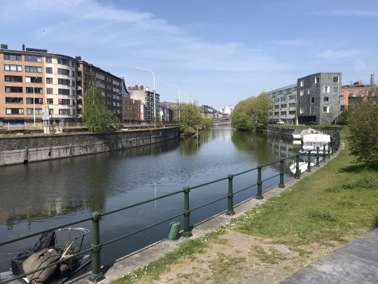 Fietsroute, fietsblog, review, roze olifant, Gent, Franse Vaart