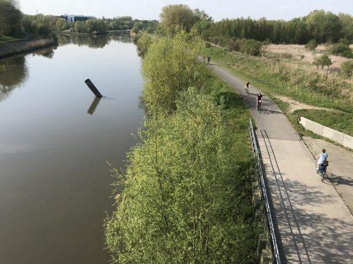 Fietsroute, fietsblog, review, roze olifant, Schelde, Melle