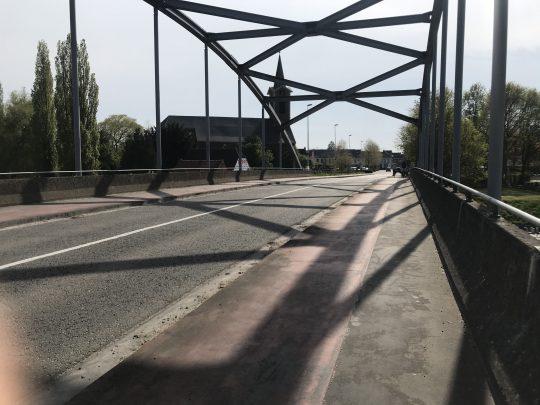 Fietsroute, fietsblog, review, roze olifant, brug, Melle