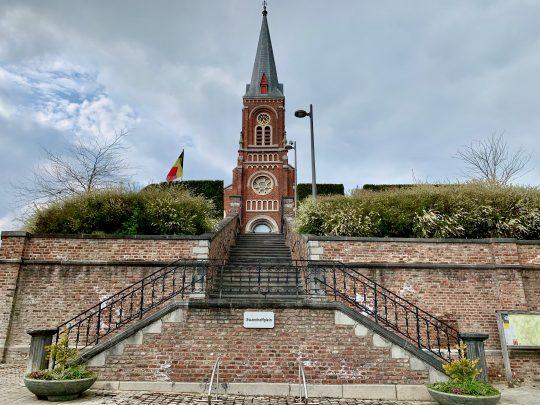 Fietsroute, fietsblog, fietsparadijs, Limburg, Groot-Gelmen, Sint-Martinuskerk